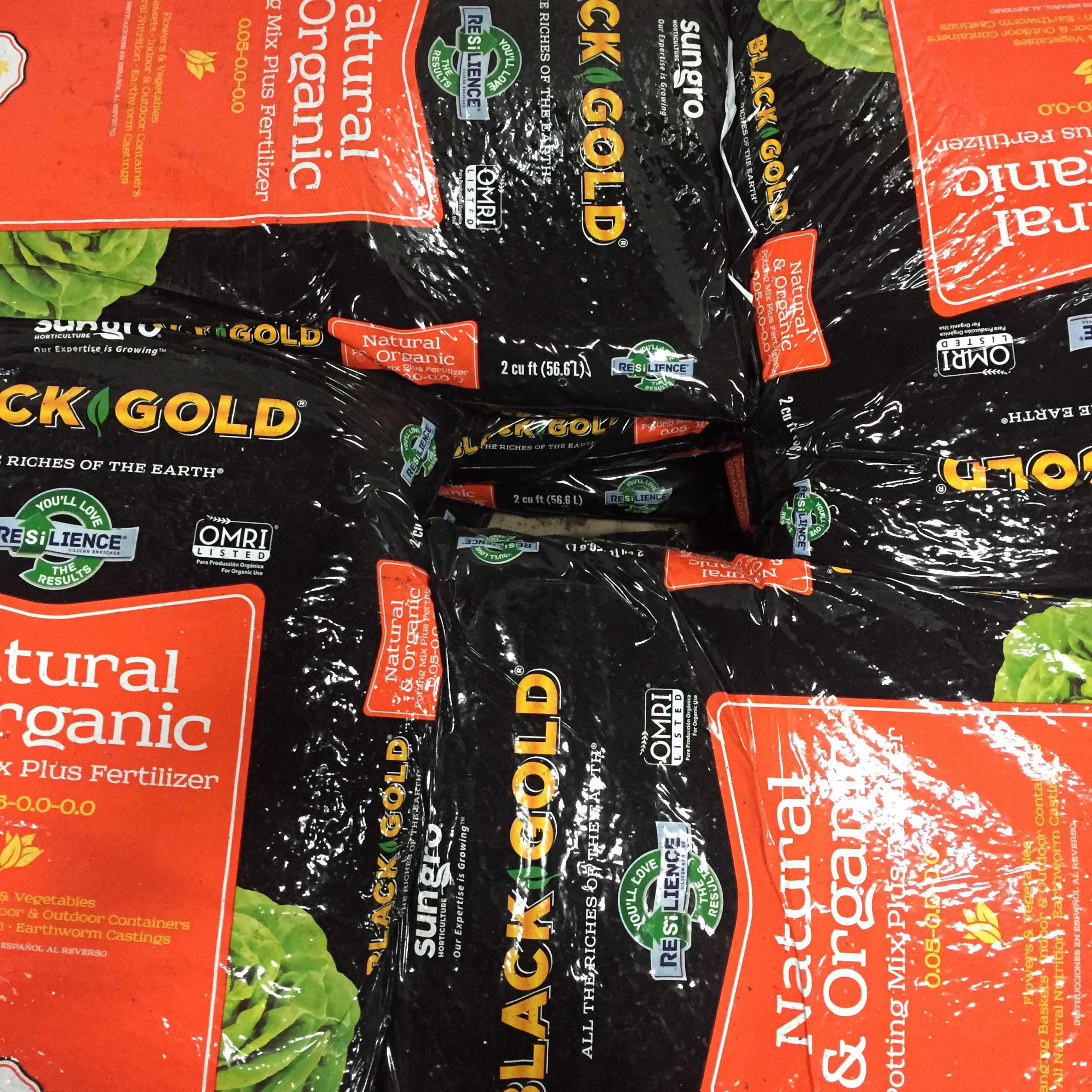 Black Gold Natural Organic Potting Soil Organic Concentrates Inc